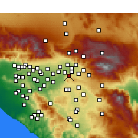 Nearby Forecast Locations - Colton - Map
