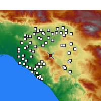 Nearby Forecast Locations - Corona - Map