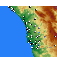 Nearby Forecast Locations - Del Mar - Map