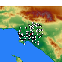 Nearby Forecast Locations - Downey - Map