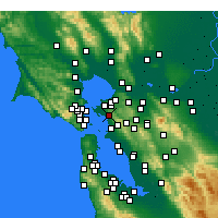 Nearby Forecast Locations - El Cerrito - Map