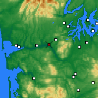 Nearby Forecast Locations - Elma - Map