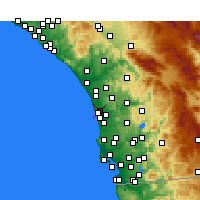 Nearby Forecast Locations - Encinitas - Map