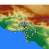 Nearby Forecast Locations - Encino - Map