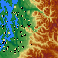 Nearby Forecast Locations - Fall City - Map