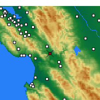 Nearby Forecast Locations - Gilroy - Map