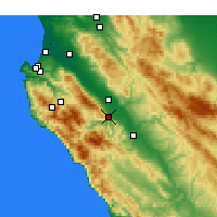 Nearby Forecast Locations - Greenfield - Map