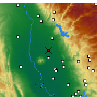 Nearby Forecast Locations - Gridley - Map