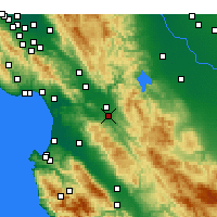 Nearby Forecast Locations - Hollister - Map