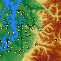 Nearby Forecast Locations - Issaquah - Map