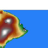 Nearby Forecast Locations - Keaau - Map