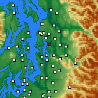 Nearby Forecast Locations - Kirkland - Map