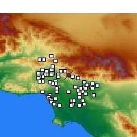 Nearby Forecast Locations - La Crescenta-Montrose - Map