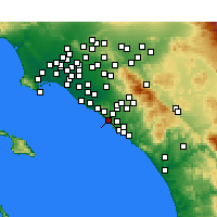 Nearby Forecast Locations - Laguna Beach - Map