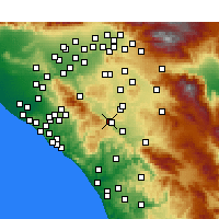 Nearby Forecast Locations - Lake Elsinore - Map