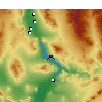 Nearby Forecast Locations - Lake Havasu City - Map