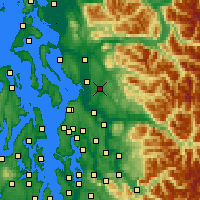 Nearby Forecast Locations - Lake Stevens - Map