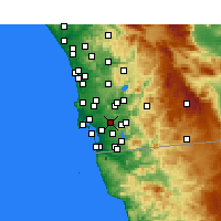 Nearby Forecast Locations - Lemon Grove - Map