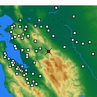 Nearby Forecast Locations - Livermore - Map