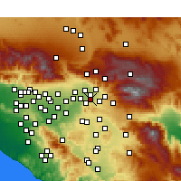 Nearby Forecast Locations - Loma Linda - Map
