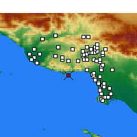 Nearby Forecast Locations - Malibu - Map