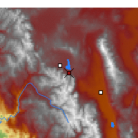 Nearby Forecast Locations - Mammoth Lakes - Map