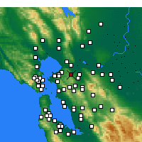 Nearby Forecast Locations - Martinez - Map