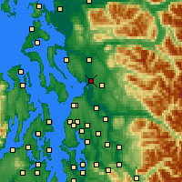 Nearby Forecast Locations - Marysville - Map