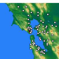 Nearby Forecast Locations - Mill Valley - Map