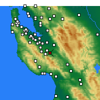 Nearby Forecast Locations - Milpitas - Map
