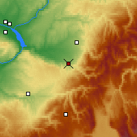 Nearby Forecast Locations - Milton-Freewater - Map