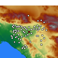 Nearby Forecast Locations - Mira Loma - Map