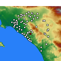 Nearby Forecast Locations - Mission Viejo - Map