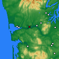 Nearby Forecast Locations - Montesano - Map