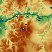 Nearby Forecast Locations - Mount Hood Parkda - Map