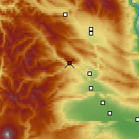 Nearby Forecast Locations - Naches - Map