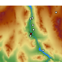 Nearby Forecast Locations - Needles - Map