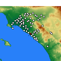 Nearby Forecast Locations - Newport Coast - Map