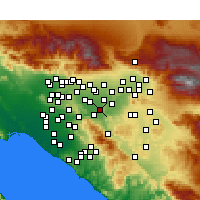 Nearby Forecast Locations - Norco - Map