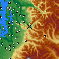 Nearby Forecast Locations - North Bend - Map