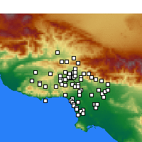Nearby Forecast Locations - North Hills - Map
