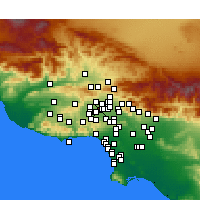 Nearby Forecast Locations - Northridge - Map