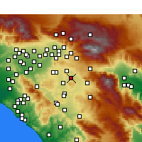 Nearby Forecast Locations - Nuevo - Map