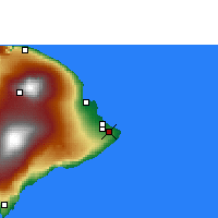 Nearby Forecast Locations - Pahoa - Map