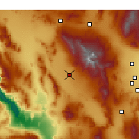 Nearby Forecast Locations - Pahrump - Map