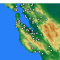 Nearby Forecast Locations - Palo Alto - Map