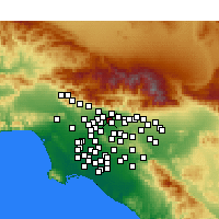 Nearby Forecast Locations - Pasadena - Map