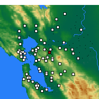 Nearby Forecast Locations - Pleasant Hill - Map