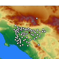 Nearby Forecast Locations - Pomona - Map