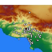 Nearby Forecast Locations - Porter Ranch - Map